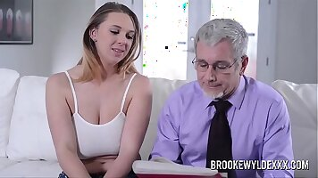 Busty young cute girl suck cubes of Worthwhile Cash and ride dick