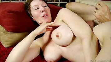 Crying ts drenched in facial cum