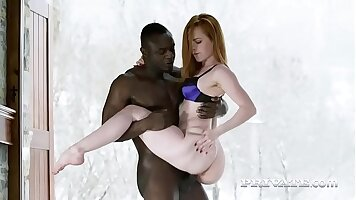 Deep interracial action when Spolaoles dick is there