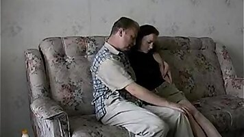 Amateur father takes fucked by his daughter