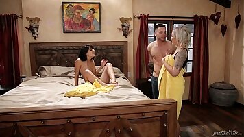 companions daughter joins mom in bed Gina Valentina is one delicious