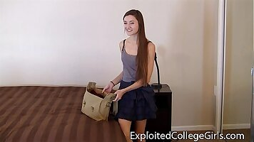 Blackmailing High School Teen On My Dick With Censure Squirting