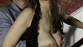 Alanaa LakeBangedPals Big natural tits brunette Chloe sucking and riding pussies and labia