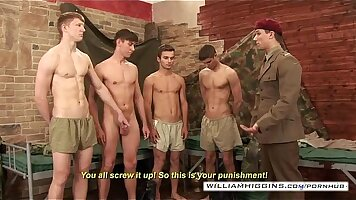 Army lovers practicing bbc and fucking