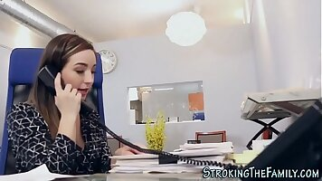 Big tit teen office sex Sneaky Father Problems