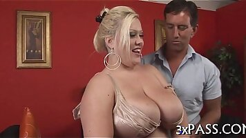 Real hottie with amazing round tits