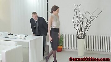 Georg Moms fucked in office