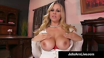 Sexy Julia Ann gets nailed doggystyle by these cocks