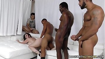 Asian Mommy Tight Pussy Fucked By Sons Black Dicks